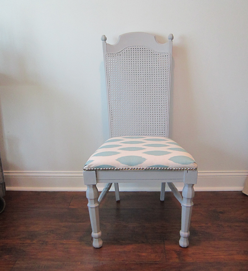 Lovely Finished Old Chair Makeover Using Chalk Paint And Nailhead Trim   The  Honeycomb Home On @