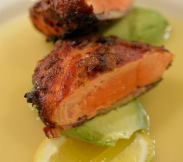 Schmacon-Crusted Atlantic Salmon