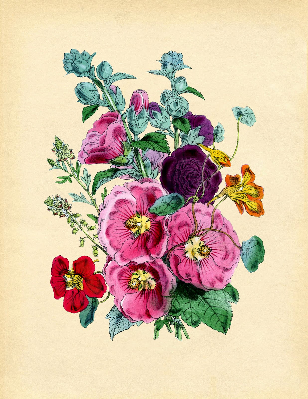 Wild image with printable of flowers