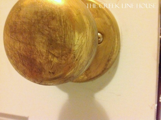 how to age brass doorknobs - The Creek Line House on Remodelaholic