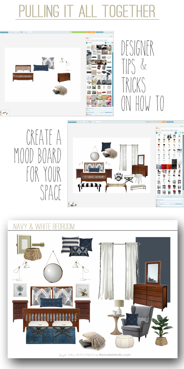 Remodelaholic how to create a mood board for your space for Room design mood board