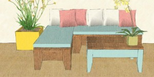 how to build an easy patio set @Remodelaholic