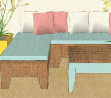 Build An Easy Patio Set with Benches and a Coffee Table