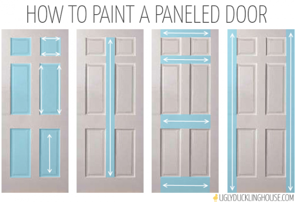 how to paint a paneled door - Ugly Duckling House