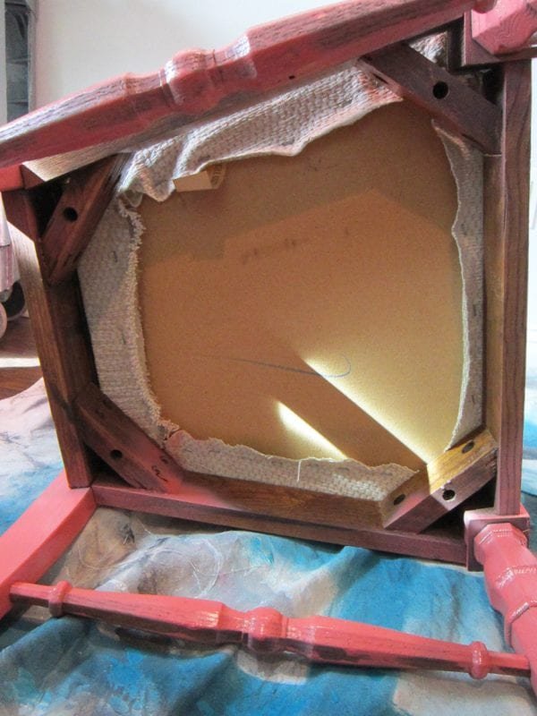 how to remove the seat from a cane back chair - The Honeycomb Home on @Remodelaholic