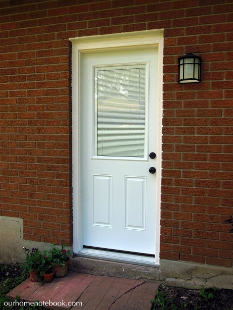 Remodelaholic best diy door tips installation framing for Exterior back doors with glass