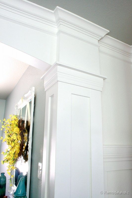 interior doorway column tutorial