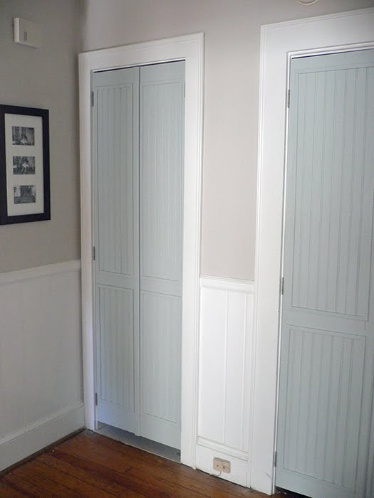 louvered to beadboard closet doors - Vintage Simple Home