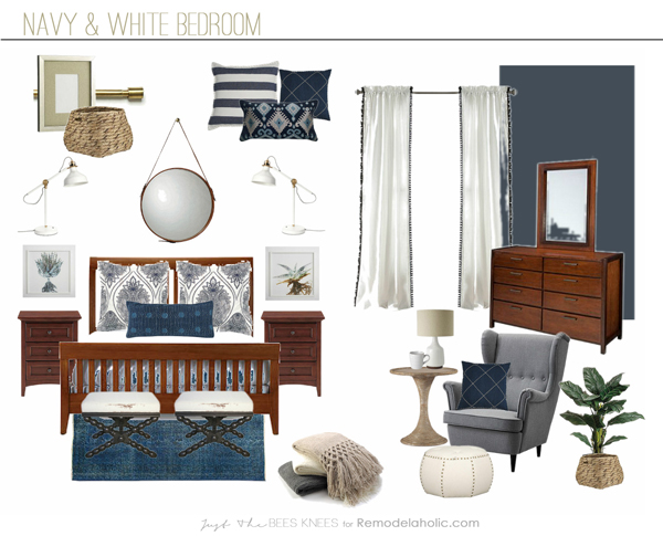 Navy_white_bedroom. Scroll Below For The Mood Board ...