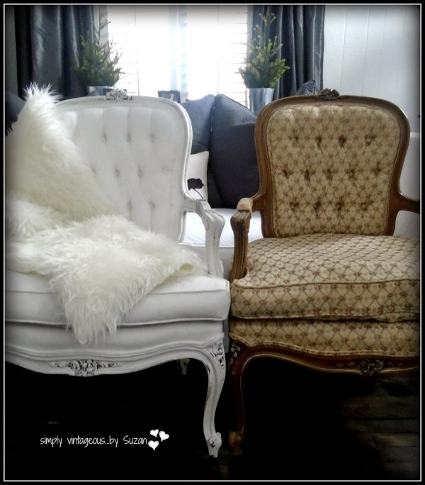 painted projects - painted bergere chairs Simply Vintageous