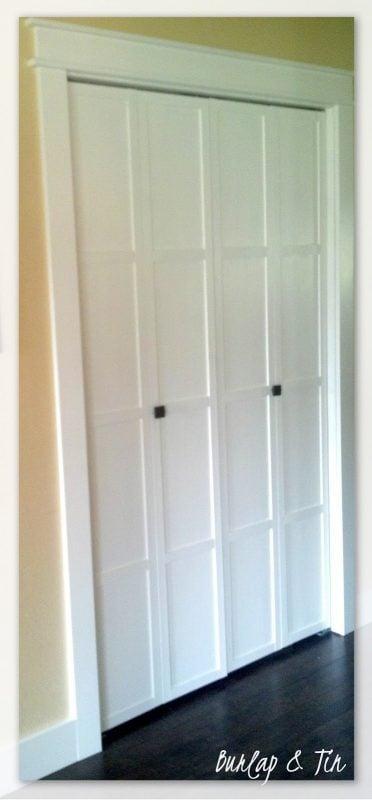 paneled bifold door - Burlap and Tin