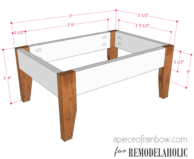 Remodelaholic Build An Easy Patio Set With Benches And A Coffee Table