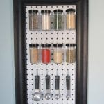 pegboard spice rack - The Honeycomb Home