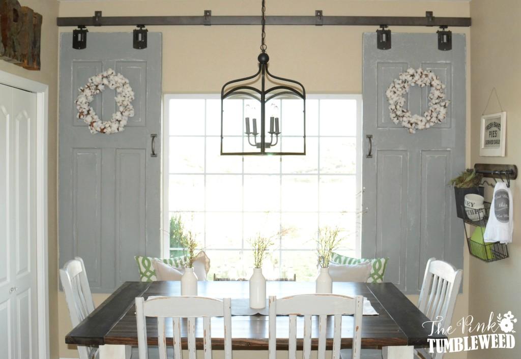 Doors galore remodelaholic bloglovin for Barn doors over sliding glass doors