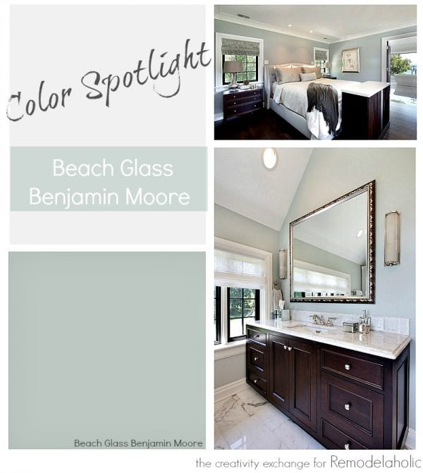 Beach Glass from Benjamin Moore is one of the most versatile transitional paint colors. Color Spotlight on Remodelaholic