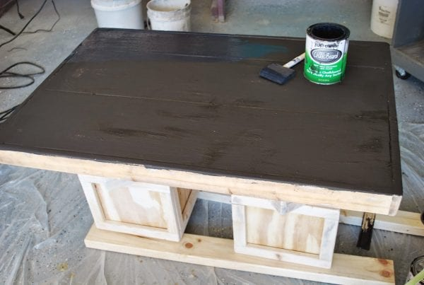 Building BLock Playtable with Chalboard Top by ToolBox Divas for Remodelaholic