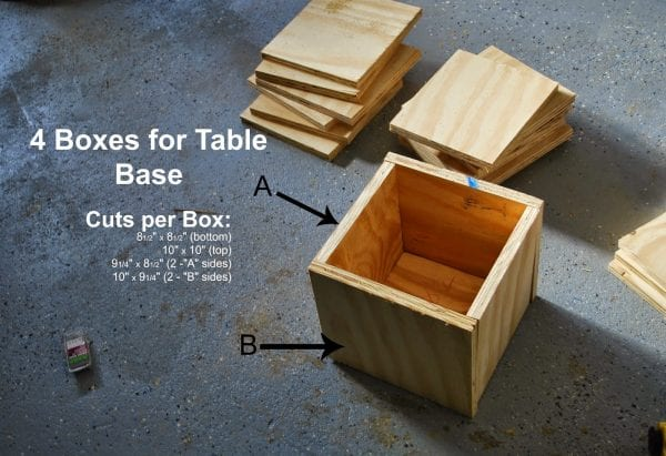 Building Base for DIY Playtable by ToolBox Divas for Remodelaholic