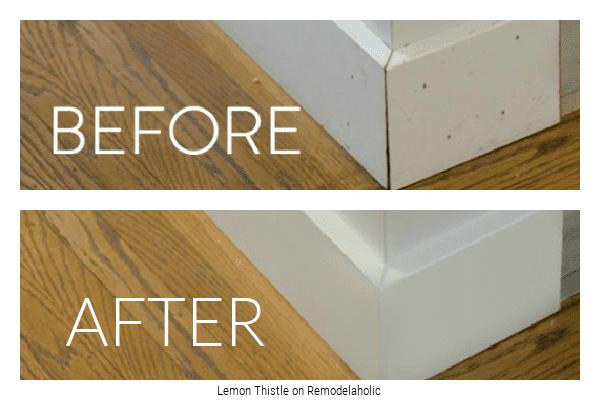 Caulking Tips To Finish Your Project, Lemon Thistle On Remodelaholic