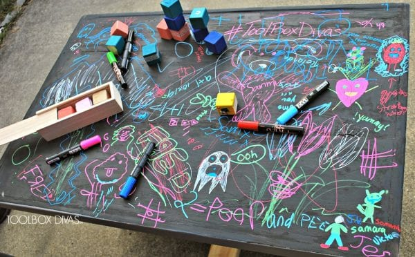 Chalkboard Top for Building Block Playtable by ToolBox Divas for Remodelaholic