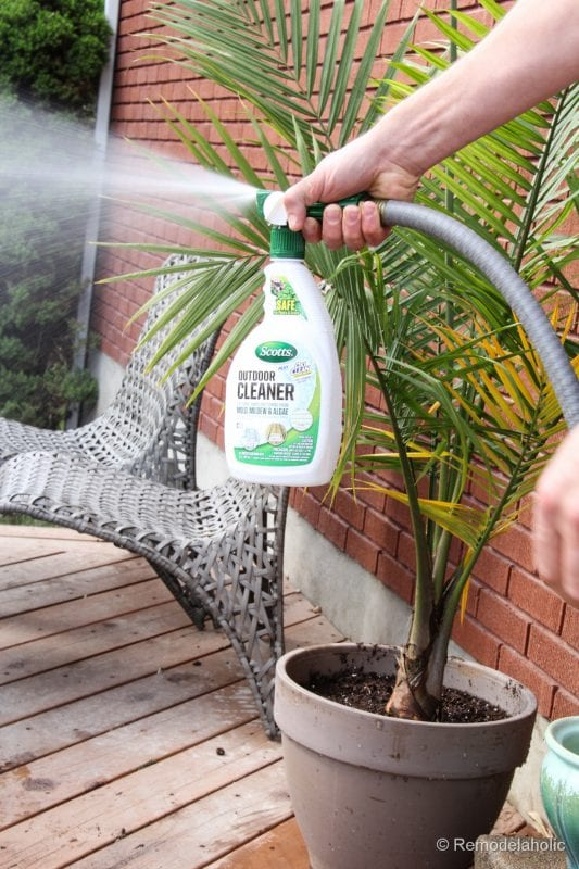 Cleaning with Scotts Outdoor Oxiclean cleaner (11 of 30)