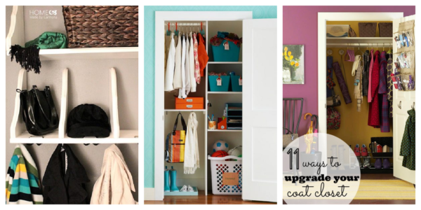 Coat Closet Ideas For An Upgraded Look And Organized Feel Featured On Remodelaholic.com