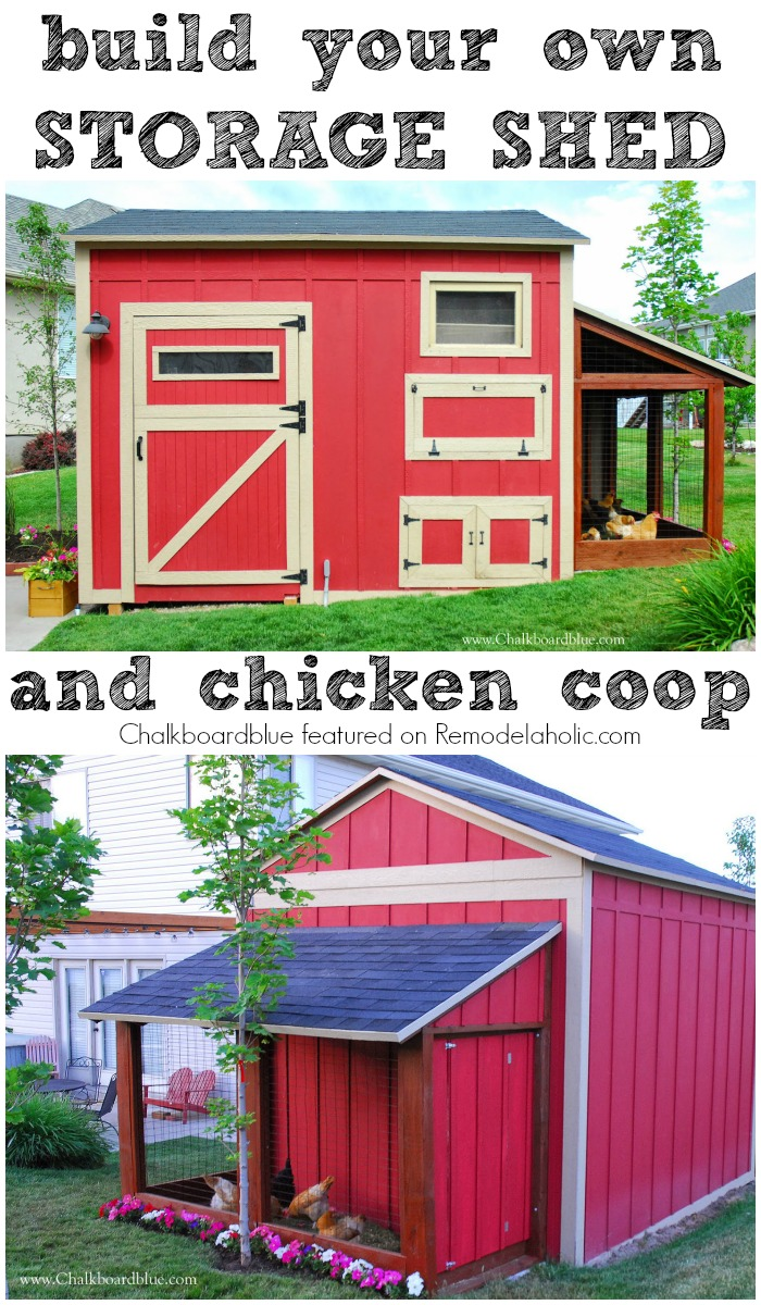Remodelaholic Cute Diy Chicken Coop With Attached