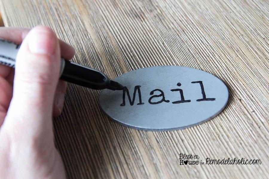 DIY Locker Basket Mail Organizer Labels