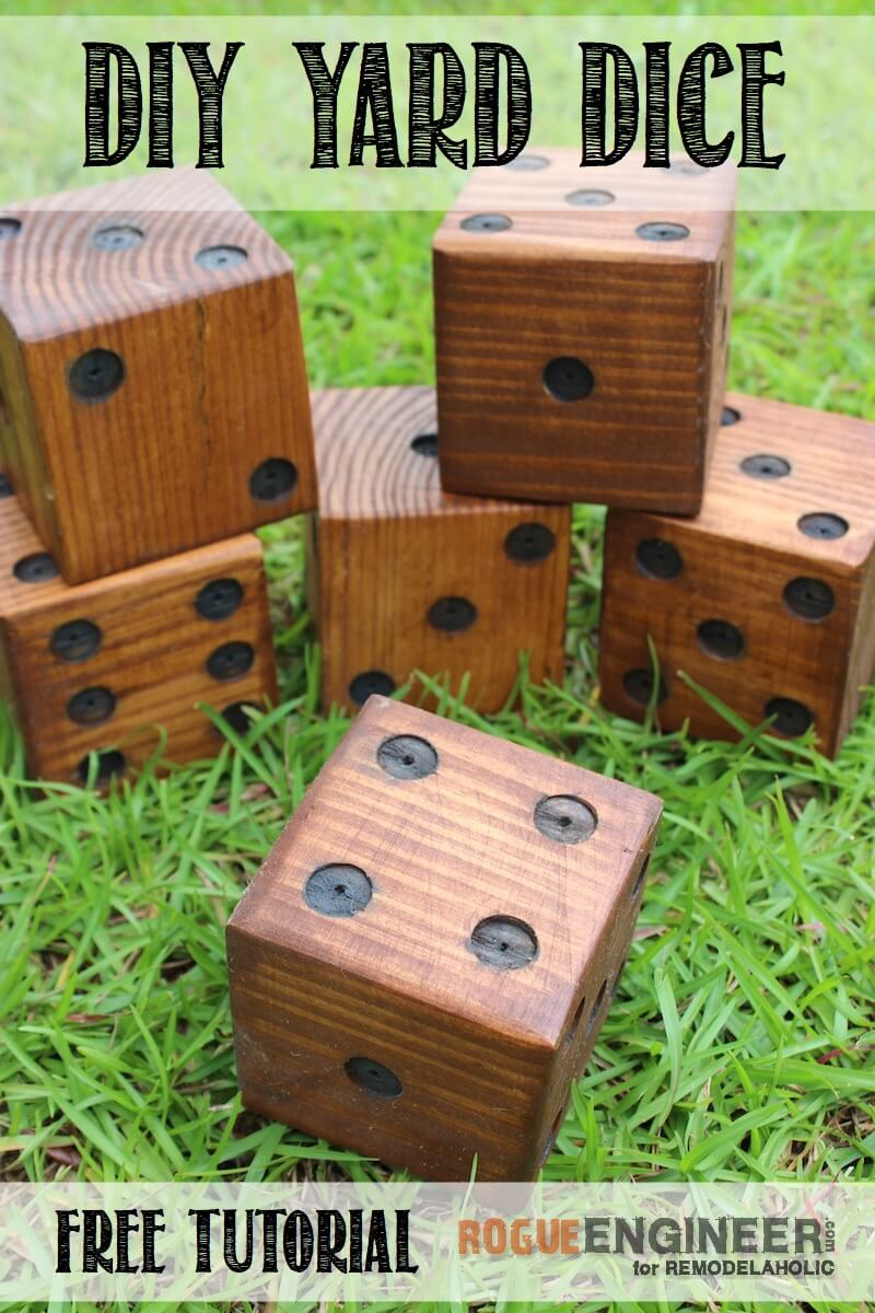 Remodelaholic diy yard dice tutorial for Outdoor wood projects ideas