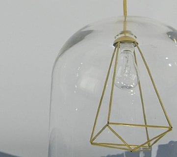 DIY Glass and Himmeli Pendant Light