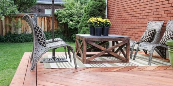 DIY outdoor coffee table remodelaholic feature