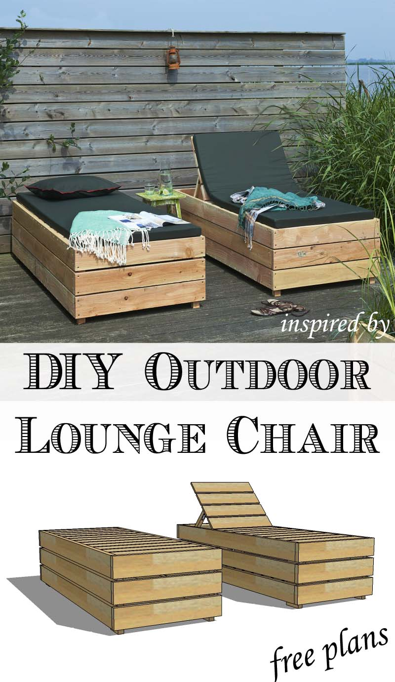 diy reclining outdoor lounge chair with storage. Black Bedroom Furniture Sets. Home Design Ideas