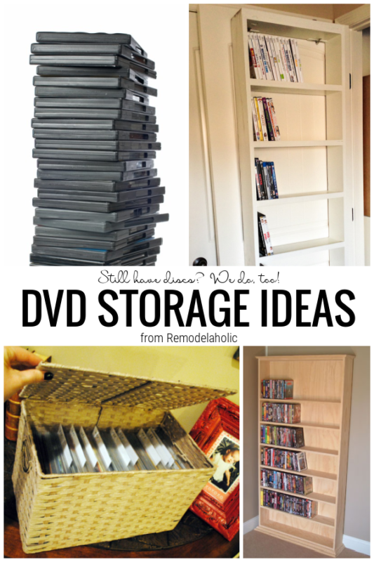 DVD Storage Ideas For Organizing Your Movie Collection, From Remodelaholic