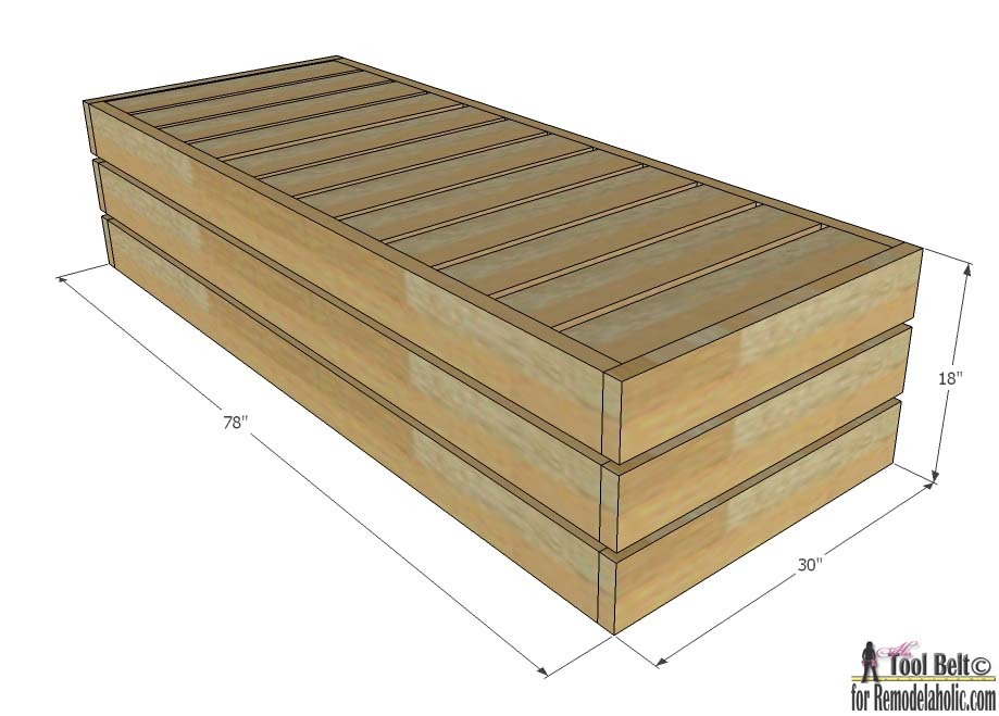 Remodelaholic diy reclining outdoor lounge chair with for Diy outdoor daybed plans
