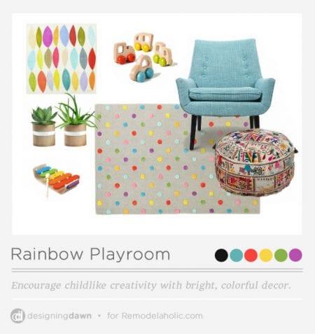 Rainbow Playroom Ideas