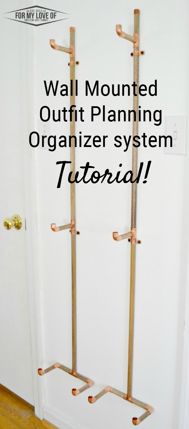 Get Organized and Be Prepared for the Morning! Fun Copper and Wood Wall Mounted Outfit Planning System