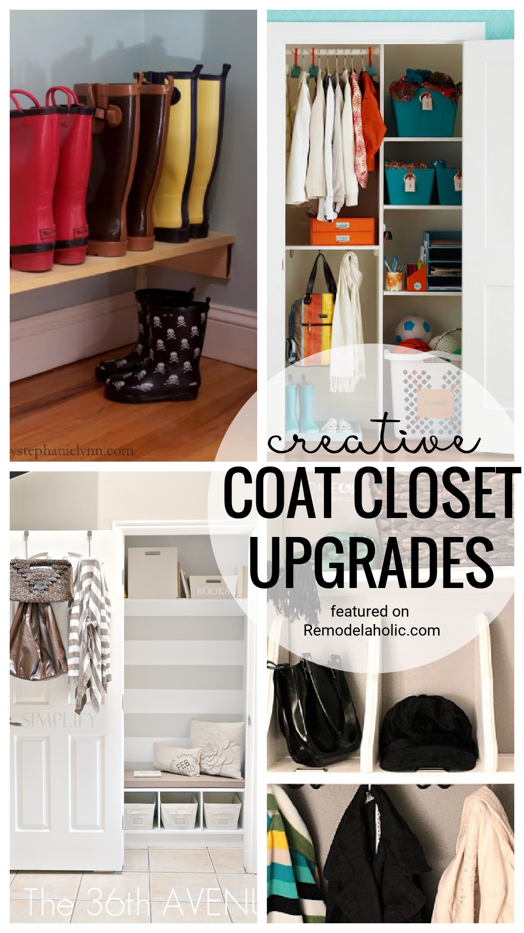 Get The Most Out Of A Small Closet With These Awesome Creative Coat Closet Upgrades Featured On Remodelaholic.com