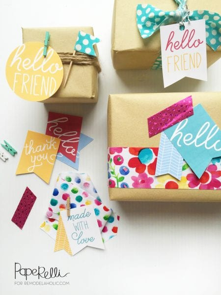 Printable Gift Tags designed by Paperelli | Remodelaholic.com
