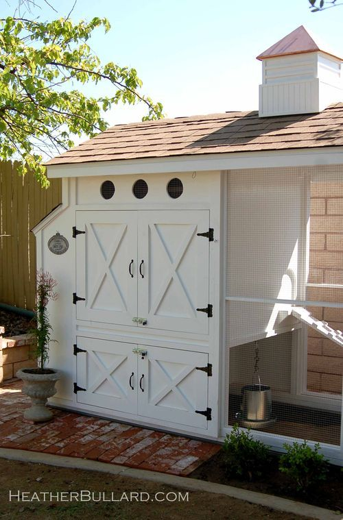 by Heather Bullard - just so perfect! Stable house style for a chicken coop