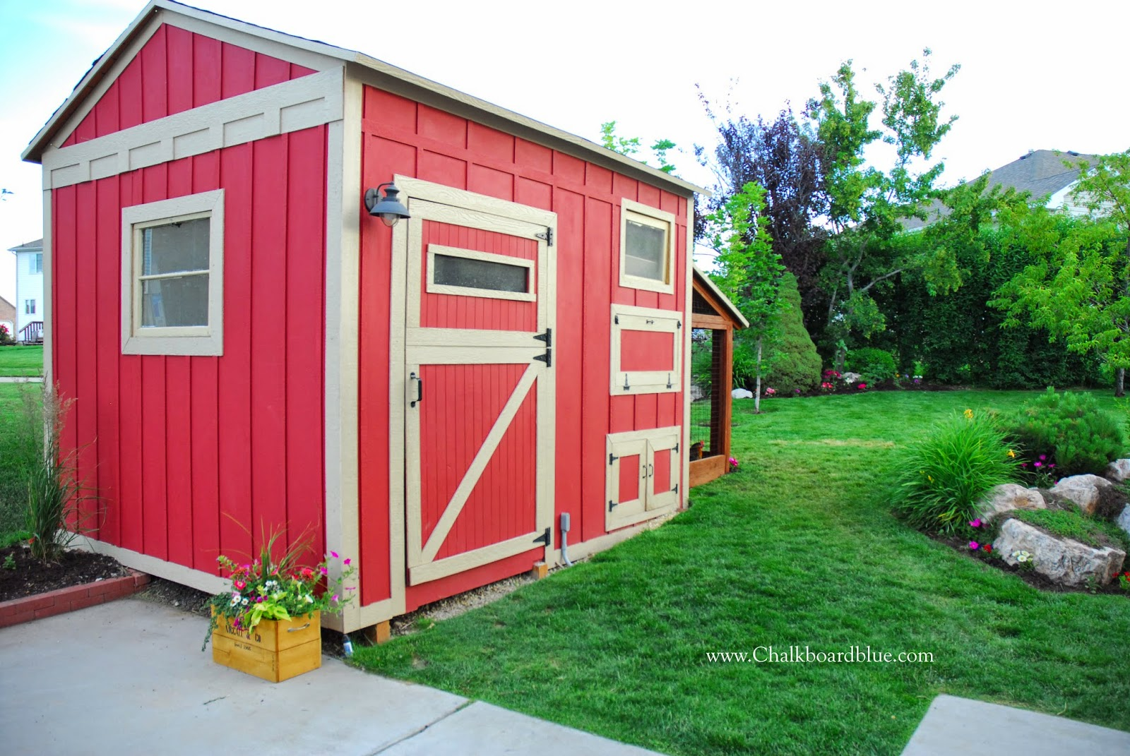 How To Build A Chicken Coop With Attached Storage Shed By Chalkboardblue  Featured On Remodelaholic