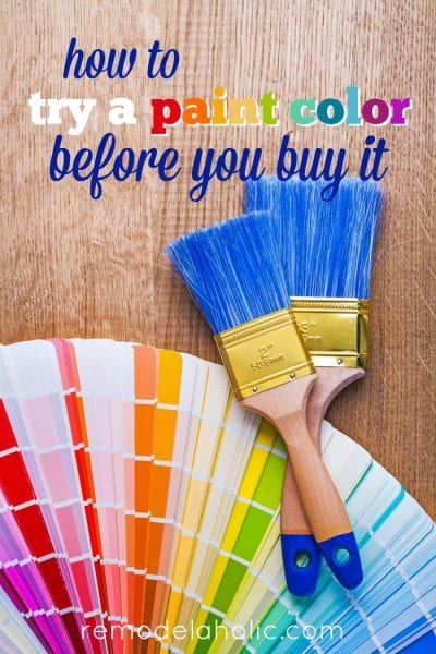How to try a paint color before you buy it