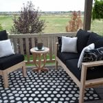 Outdoor sofa conversation setup