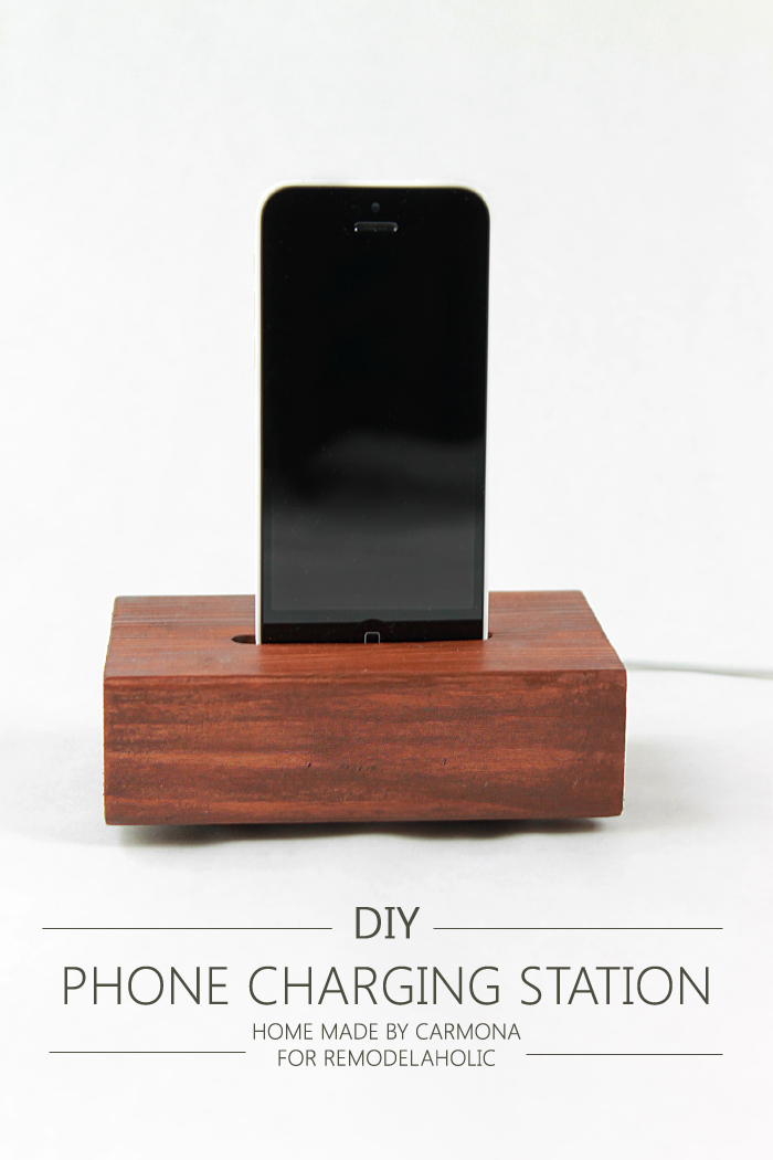 Remodelaholic | Simple Knock-off Phone Charging Station