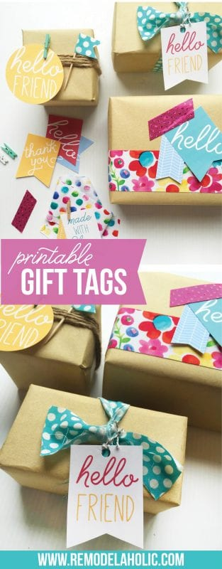 These free printable gift tags make cute gift wrapping easy! Plain paper with string or washi tape and a cute tag = perfection