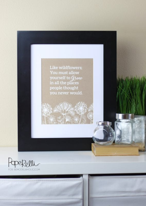 Wildflower Printable by Paperelli for Remodelaholic