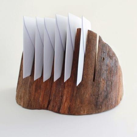 Wood edge mail organizer -550