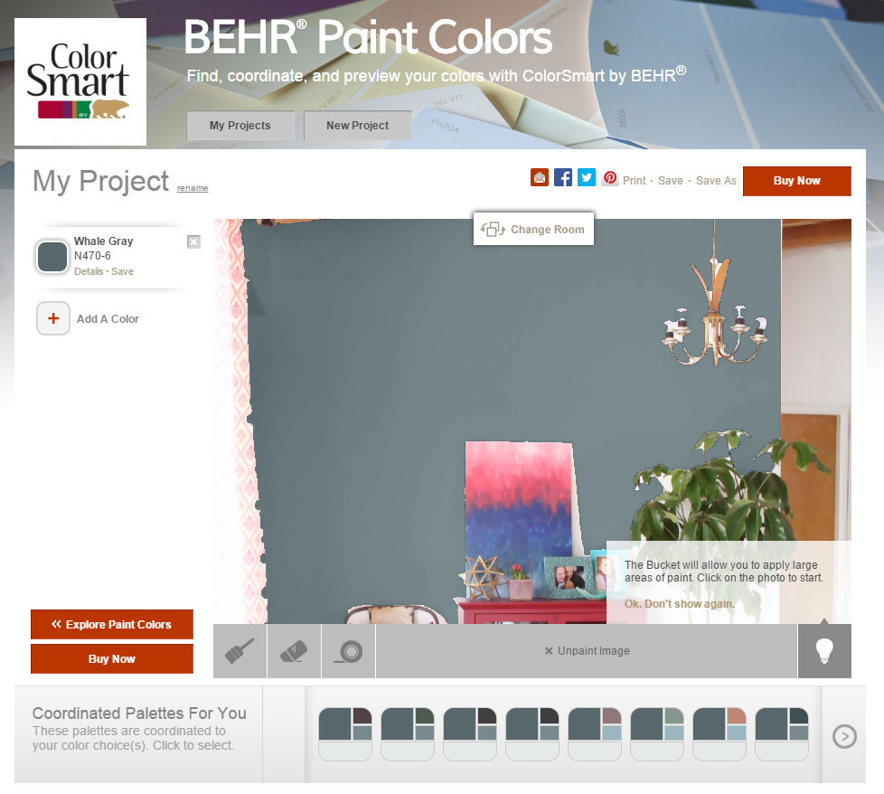 Paint colors website - 7 Free Online Tools To Test Paint Color Before You Buy Behr Color Smart