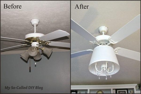 ceiling fan into chandelier - My So Called DIY Blog