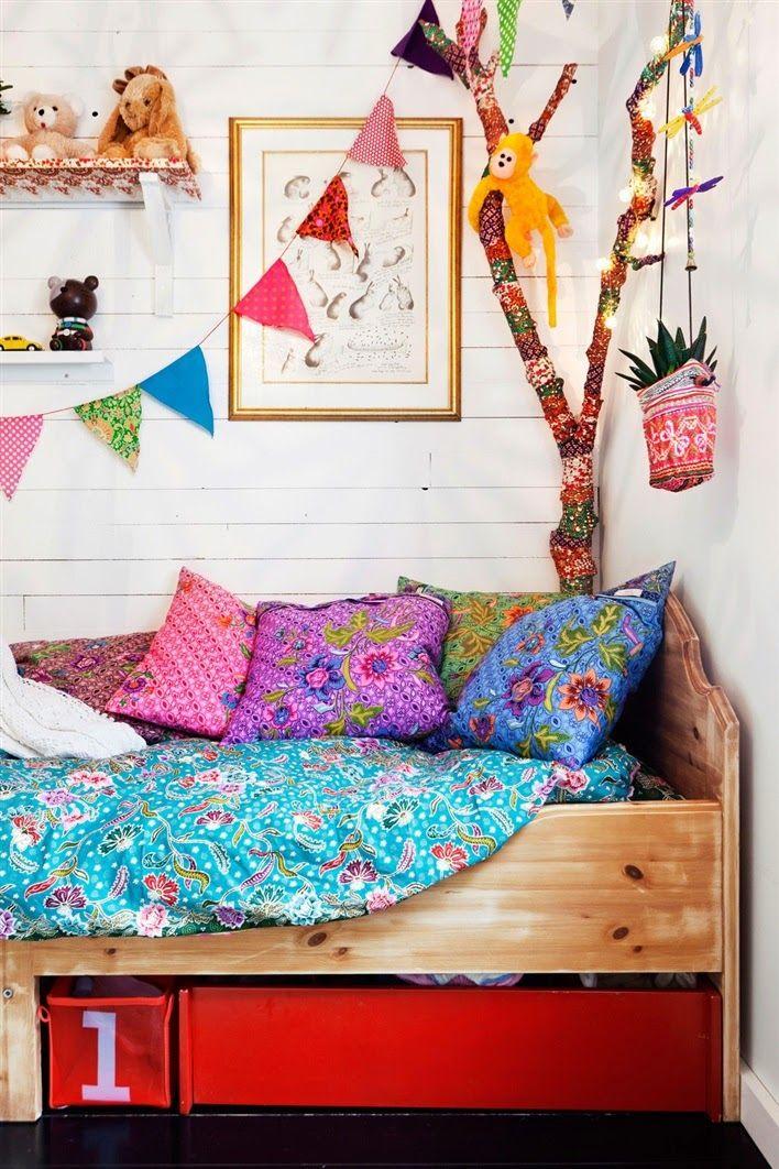 Rainbow Playroom Inspiration   Found on thebooandtheboy.com