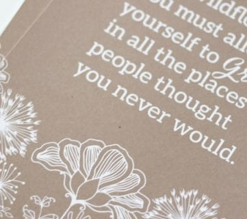 Allow Yourself to Grow; Wildflower Printable Quote