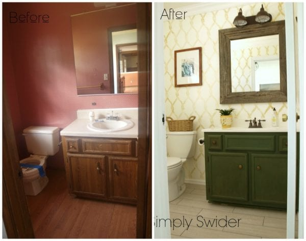 nautical bathroom before and after - Simply Swider
